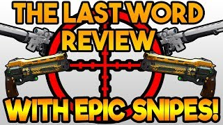 OP SNIPES WITH THE LAST WORD! FUNNY! (The Last Word Review)   Destiny 2 Gameplay