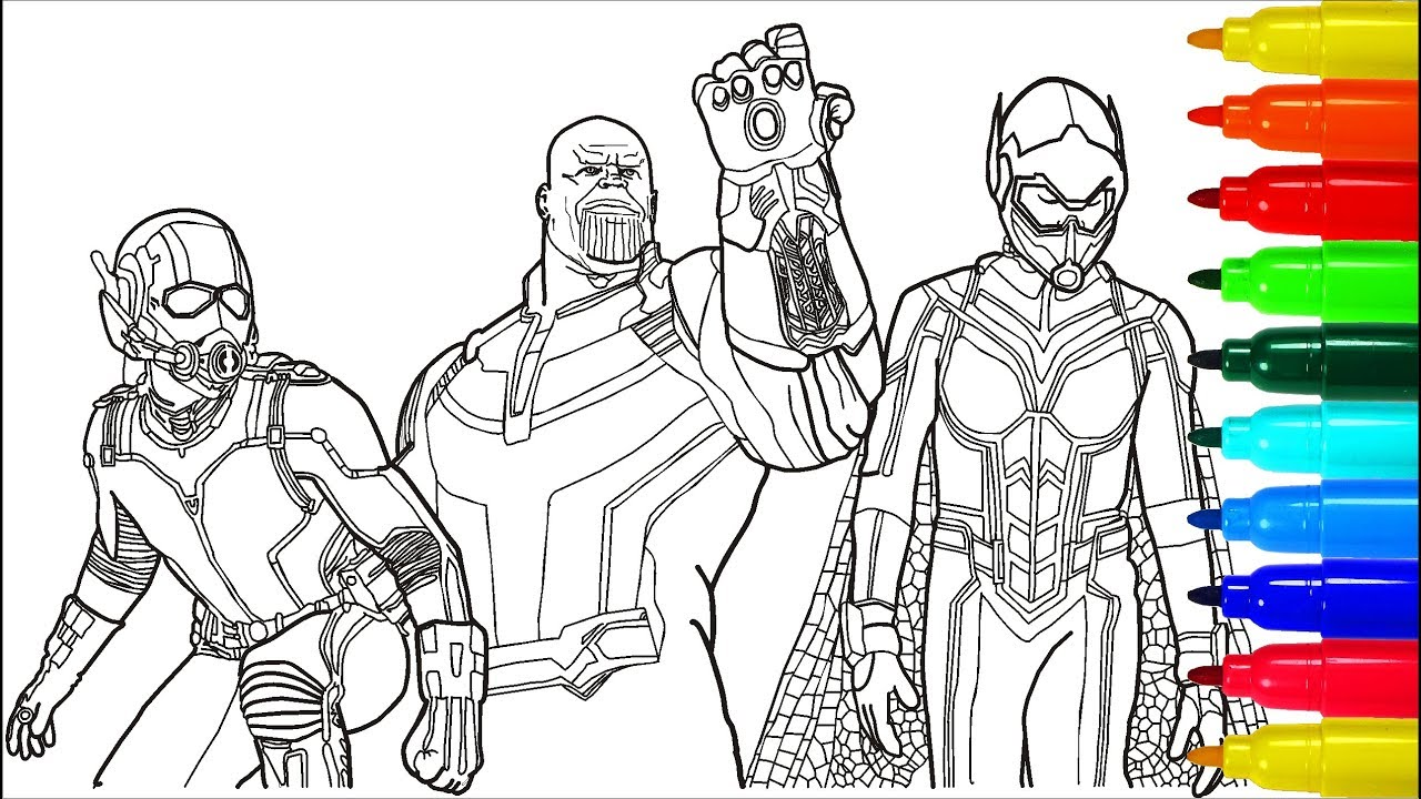Avengers Vs Thanos Coloring Pages