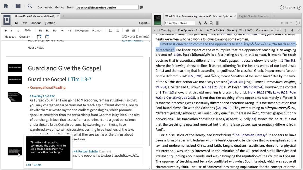 How do I export my sermon from Logos 7? – Faithlife