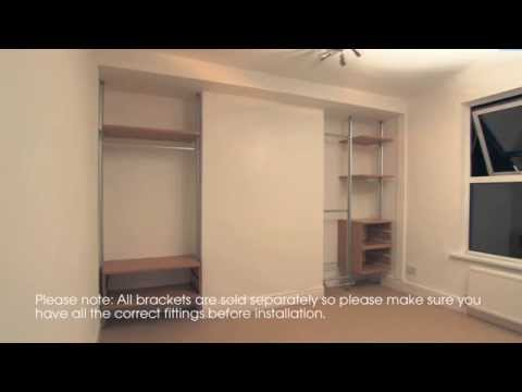 Fitted Bedroom   How To Install Built In Fitted Wardrobe Furniture   YouTube