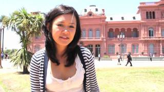 Natalie Tran in Buenos Aires with Lonely Planet