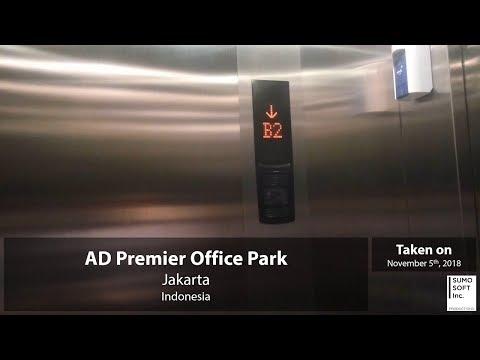Mitsubishi MRL? Parking Lifts/Elevators at AD Premier Office Park, Jakarta