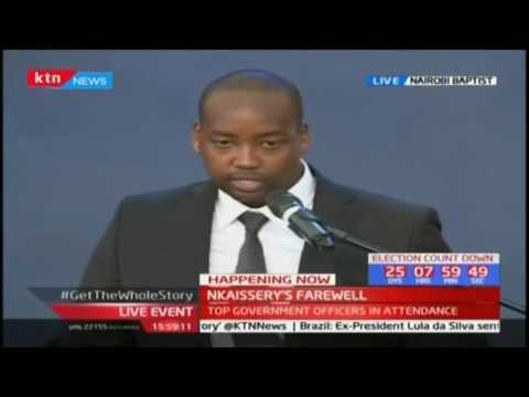 General Nkaissery's last born son remembers his father