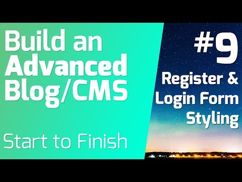 Register And Login Form Styling - Build An Advanced Blog/CMS (Episode 9)