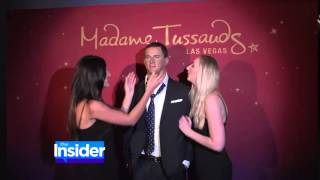 Channing Tatum wax figure at Madame Tussauds on Yahoo Celebrity Insider 07-02-15