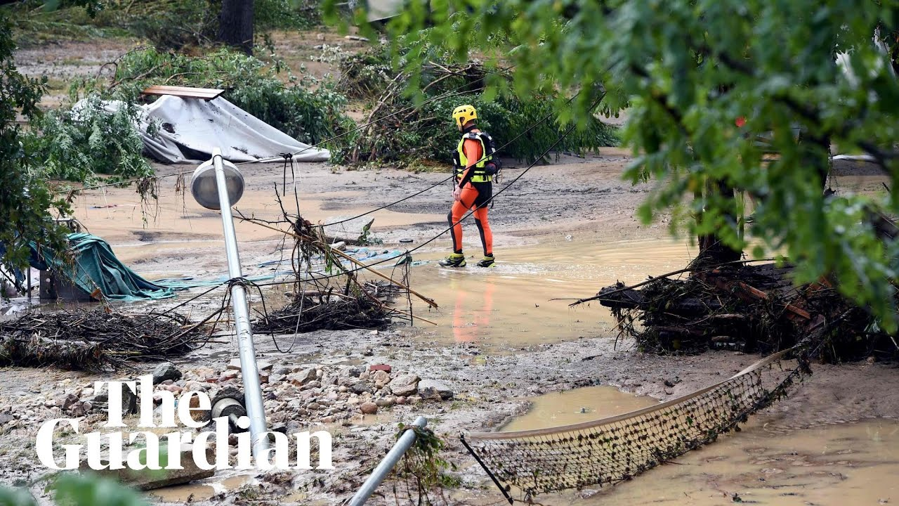 'I've never seen anything like it': Floods wash away campsites in southern  France - video report