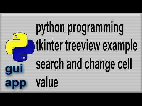 Python Treeview example search change cell contents 3 - YouTube