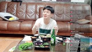 BJ그릭♡  보쌈 과 술  먹방 &  토크쇼 2…