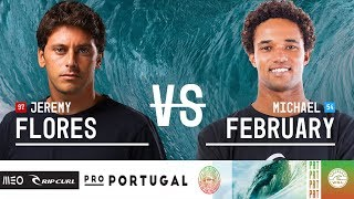 Jeremy Flores vs. Michael February - Round Two, Heat 9 - MEO Rip Curl Pro Portugal 2018