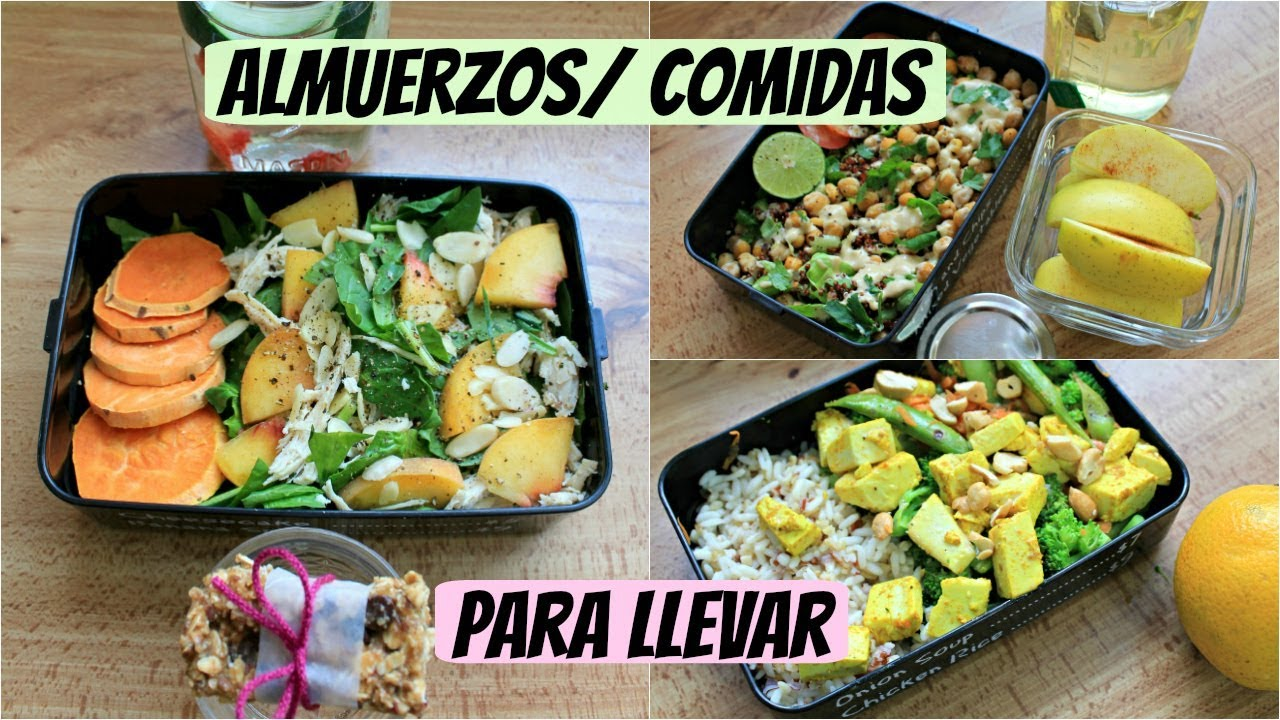 Almuerzos comidas saludables para llevar youtube for Comidas faciles y saludables