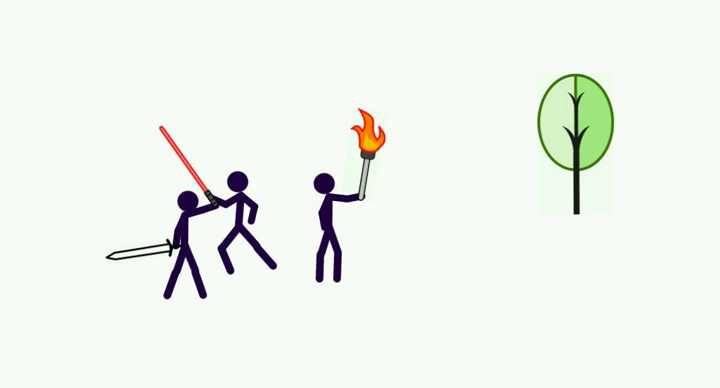 Stick Man Kids Fighting Weapons Youtube
