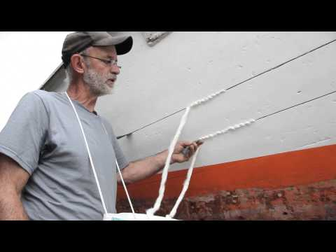 Wooden Boat Building - How to Caulk Wood Planking with Louis Sauzedde