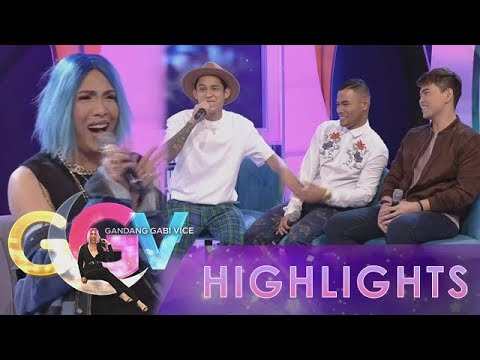 GGV: Vice Ganda blushes as Michael, Bugoy, and Daryl sing