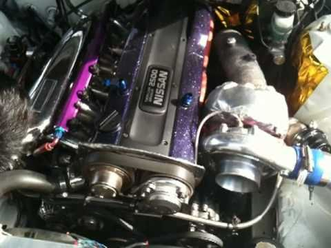 RB25DET s14 custom T4 top mount turbo