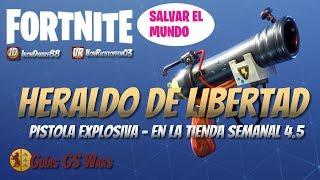 FORTNITE FREEDOM HERALD Explosive Gun Save the World Weekly Shop 4.5