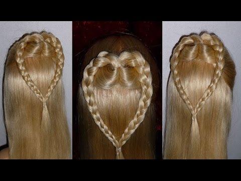 Причёска сердце из волос