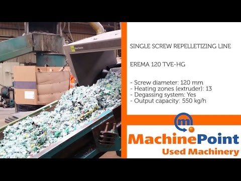 EREMA 120 TVE-HG Used SINGLE SCREW REPELLETIZING LINE MACHINES MachinePoint