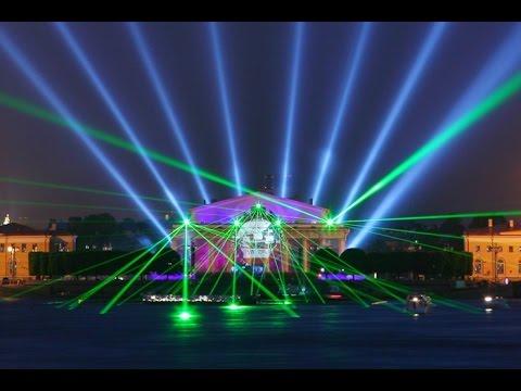 Видео: Лучшее Лазерное шоу на Стрелке Васильевского острова