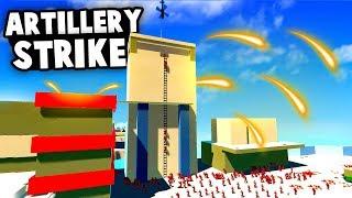 Huge ARTILLERY STRIKE Destroys the Enemy FORTRESS! (Ravenfield Best Mods)