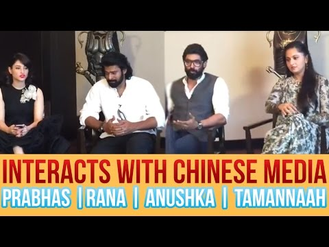 Baahubali Team Promoting the Movie In China - Interacts With Chinese Media || Prabhas || Rana