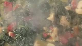 Mantarlı ıspanak