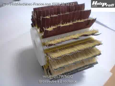 holzprofi twingo brosseuse 2 rouleaux machine bois youtube. Black Bedroom Furniture Sets. Home Design Ideas