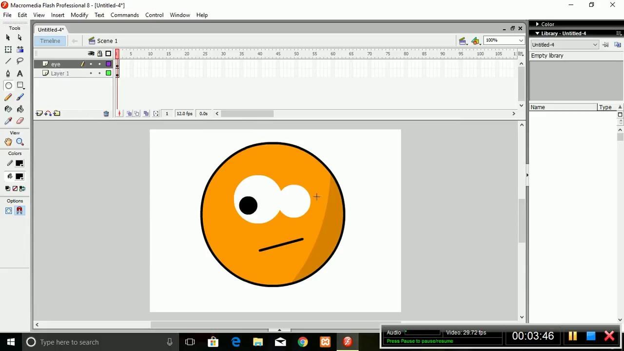 Macromedia Flash 8 || Basic 2D Animation Smiley Creation