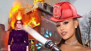 Celebrities fighting fire