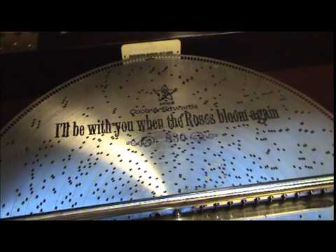 1899 Stella Concert Grand Console Music Box Playing When The Roses Bloom Again