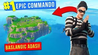 Getdim to Start island | Fortnite Azerbaijan| Epic Commando