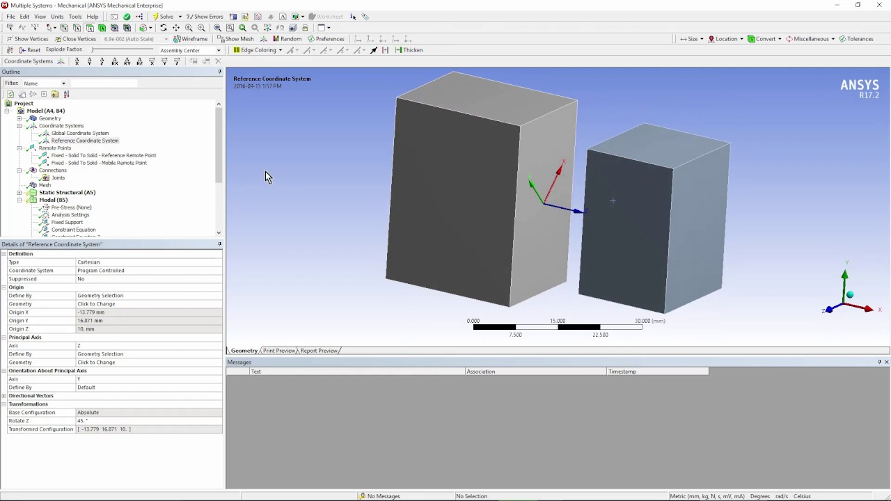 How to Model Joints via Constraints in ANSYS Workbench Mechanical