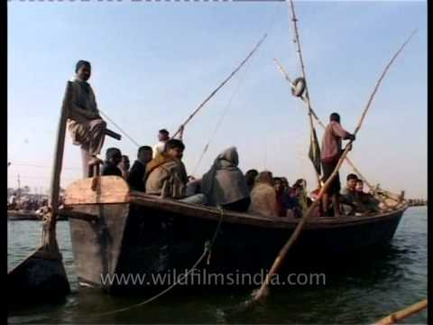 On the boat - on the way to the Sangam