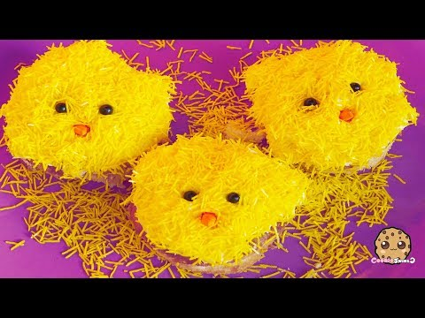 Cutest Fluffy Sprinkles ! Baking Easter Chick Cupcakes Food Cooking Video Vlog