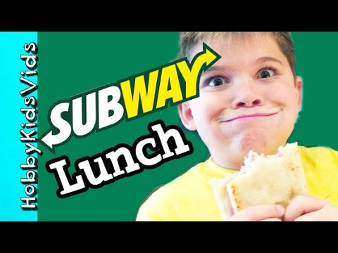 72b52c083a Subway Lunch with HobbyPig! 12 inch Sandwich + Chips Healthy Vitamin ...