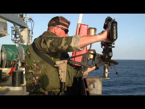 Beveiligingsteams mariniers beschermen Nederlandse koopvaardij