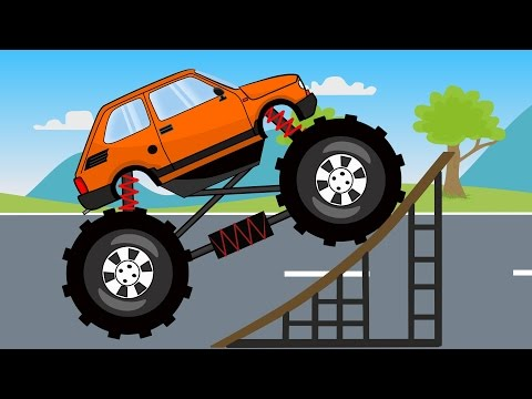 Thumbnail: Monster Truck 126p ? Stunts | Auta Bajki Monster Truck Akrobacje i inne