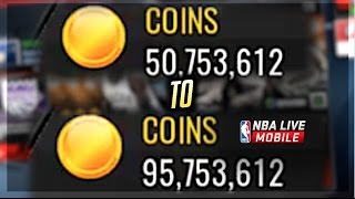 NBA LIVE MOBILE | 95 MILLION COINS IN 5 SECONDS! *NOT CLICKBAIT*