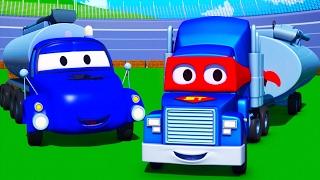 Carl el Super Camión y el Camión Cisterna en Auto City | Dibujos animados para niños