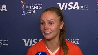 Lieke Martens – Player of the Match – Netherlands v Japan