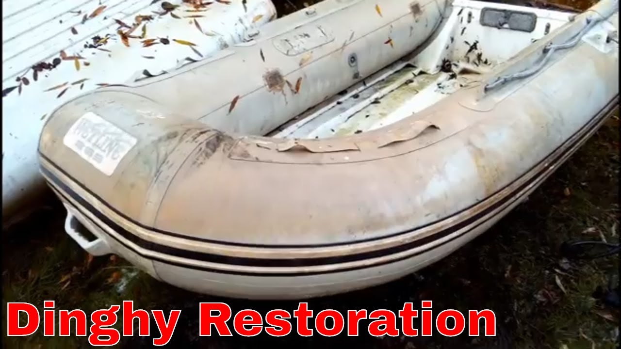 Norfolk Broads: How To Restore Inflatable Dinghy/Rib - Boat Vlog Ep 134