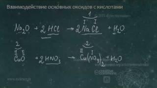 Взаимодействие основных оксидов с кислотами