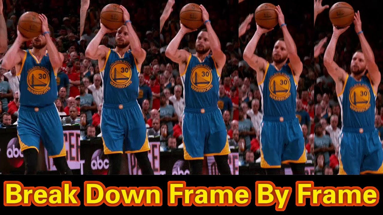 627cc94322b Stephen Curry Shooting Form Slow Motion Break Down Frame By Frame 2018 Part  2
