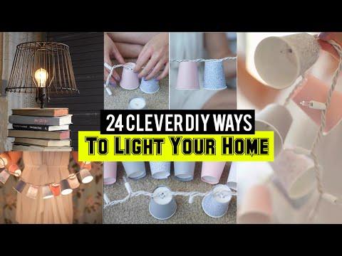 24 Clever Home light DIY ideas