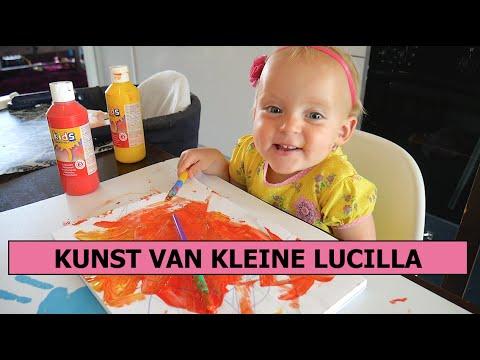 LUCILLA MAAKT EEN SCHILDERIJ | Lucilla Bellinga Vlog #3