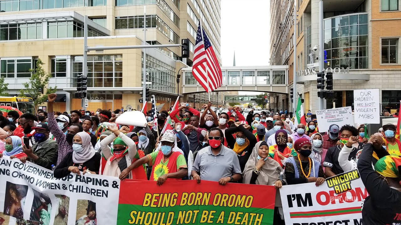 Hundreds March in North American Grand Rally Oromo Protest