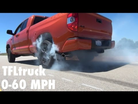 2017 Toyota Tundra Trd Pro 0 60 Mph Review Is It Faster Than A Raptor