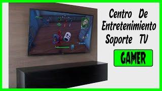 mueble para la tv en melamina  diy  soporte gamer