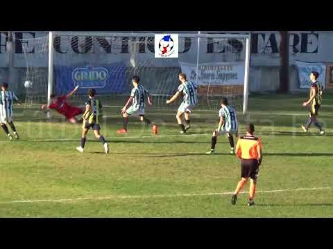 Gol de Carlos Villordo (parcial Sanjustino 3 -Náutico El Quilla 4).  Copa Santa Fe 2018