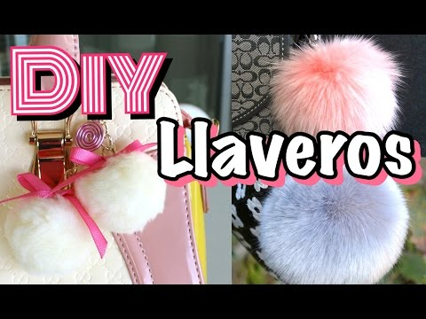 DIY Llaveros Pompones   Fur Keychain   Mirianny