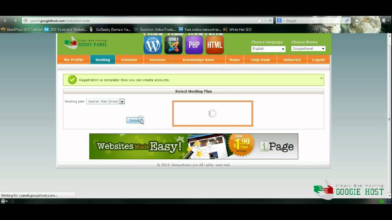 web hosting with php